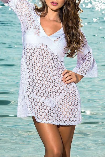 Plážové šaty - biele  5930b0a2af
