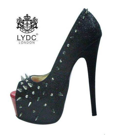 Luxusné lodičky LYDC London - vybíjané čierne ffcb99cb48
