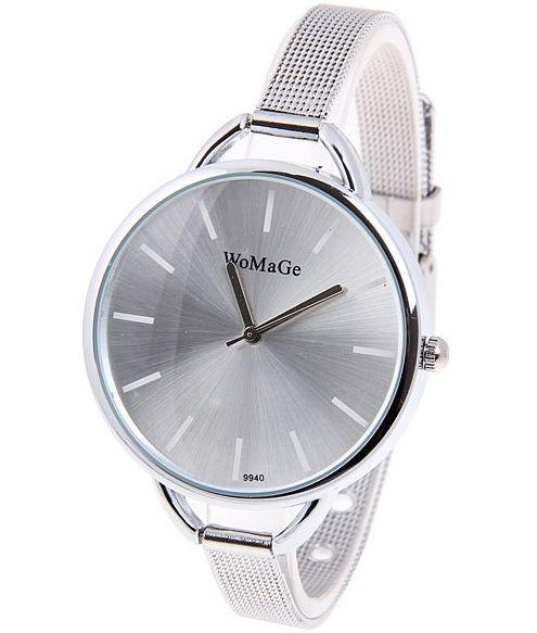 Strieborné hodinky Wo - Silver 715e8c8d616