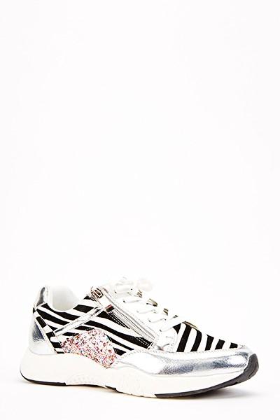 6b1e817b34af Dámske tenisky Sport zebra