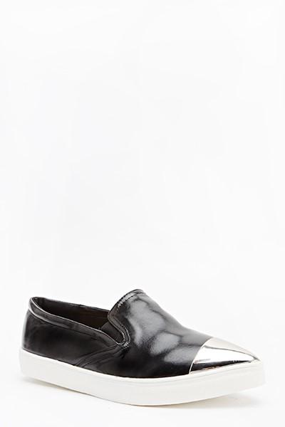 f4c483293c Dámske topánky Slip On - čierne