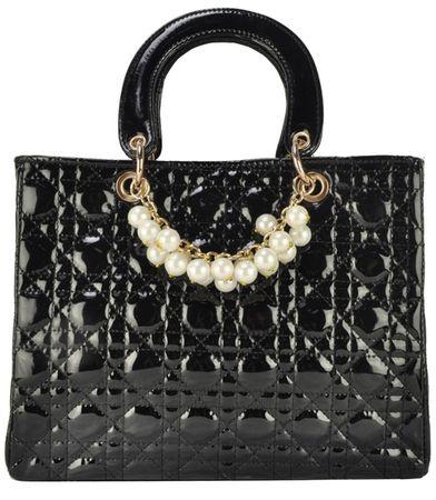 Kabelky | Čierna kabelka v štýle Dior | BeANGEL.sk