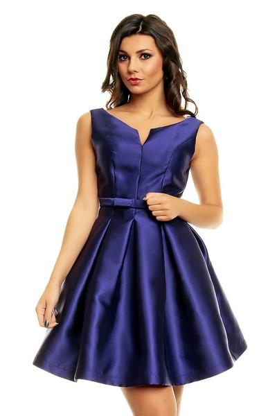 4f9b2a61c357 Dámske saténové šaty modré