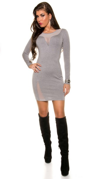 5282fbe17da6 Dámske trendy šaty - sivé