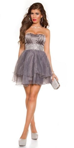 e85298c76b79 Dámske spoločenské šaty - sivé