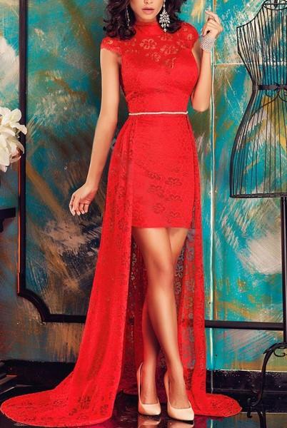 77f032187455 Dámske spoločenské šaty - červené