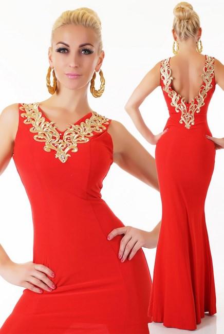 84bdff8a58d Dámske spoločenské šaty červené