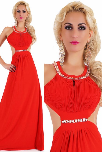 155c1389ff11 Dámske spoločenské šaty červené