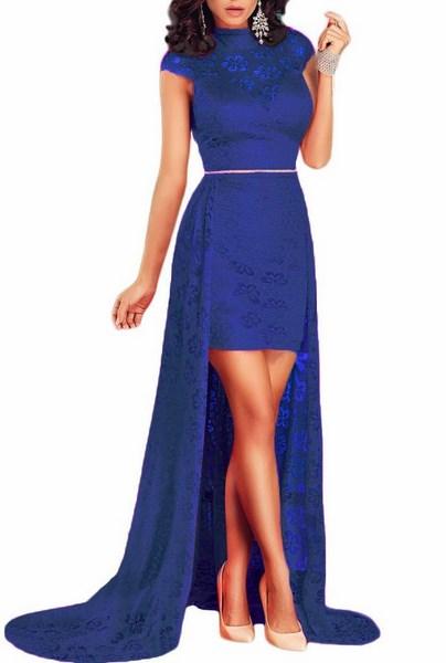 Dámske spoločenské šaty - modré 1cf5094f8a1