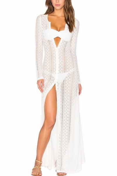 72e61a9c11ab Plážové maxi šaty - biele