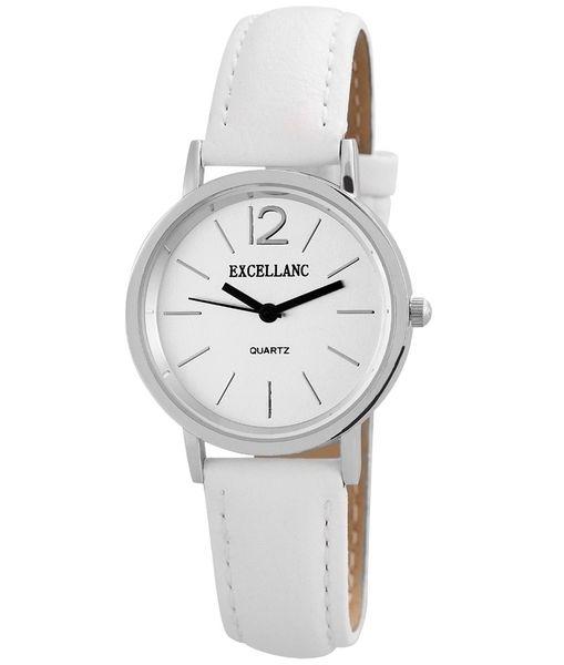 Dámske hodinky Excellanc biele strieborné 40395f162ad