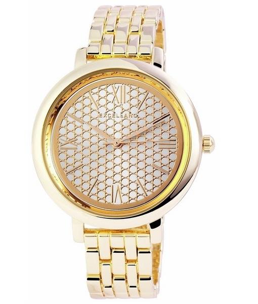 Dámske kovové hodinky Excellanc zlaté e27d785041