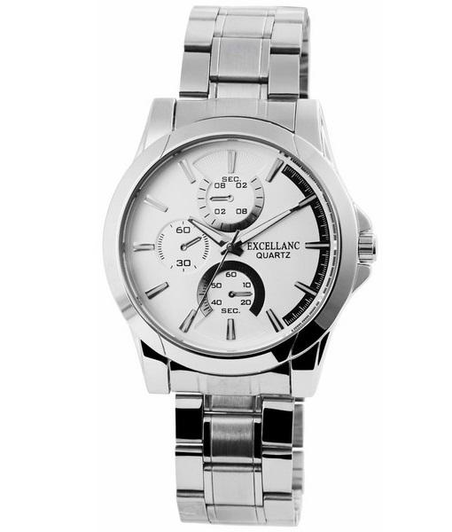 Pánske kovové hodinky Excellanc strieborné 497f6ceba0