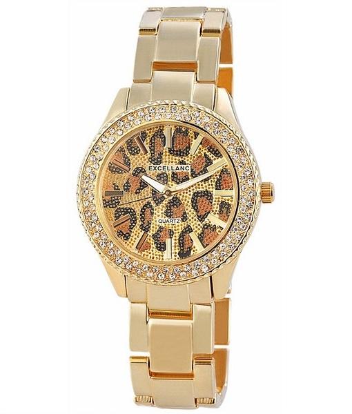 Dámske zlaté hodinky Excellanc Gold Leo 5928b7b212