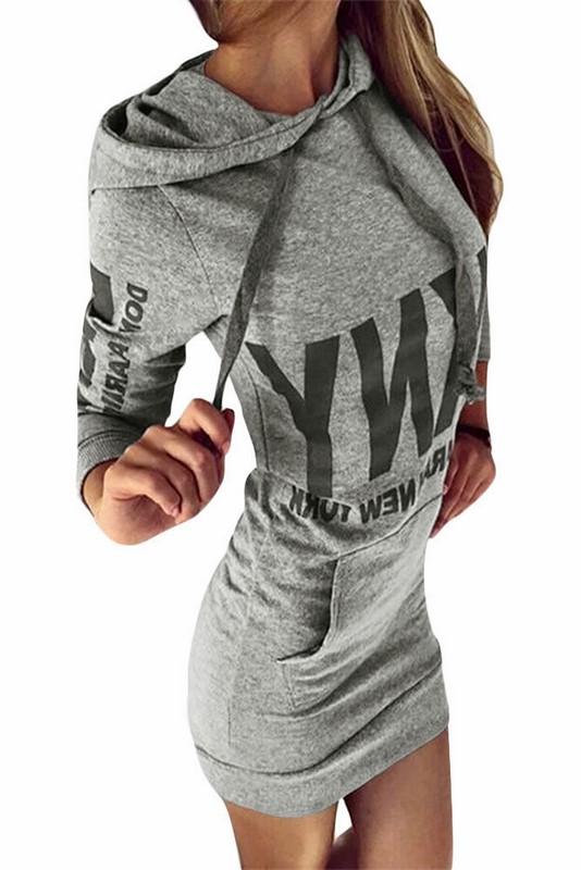 f4e19cdf1163 Mini šaty s potlačou - šedé