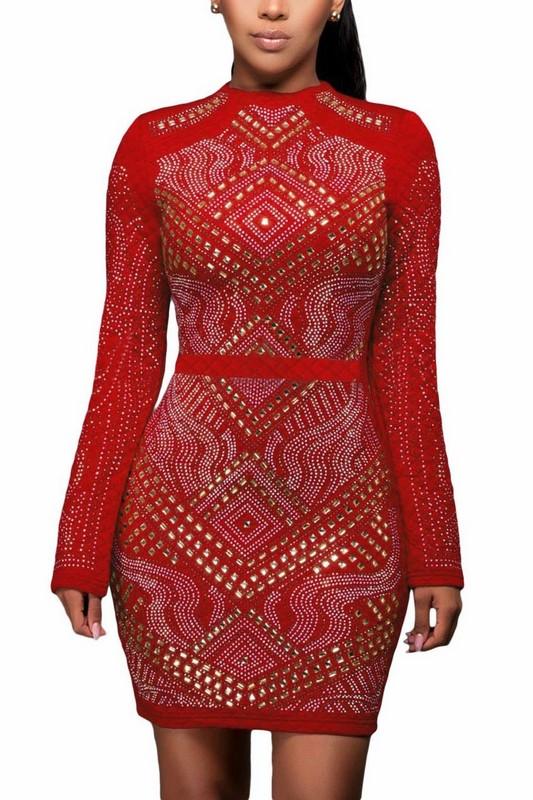 bf8b23e1b773 Vykladané dámske šaty - červené