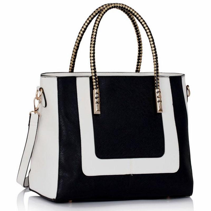 Dámska kabelka čierna biela 895557fd128