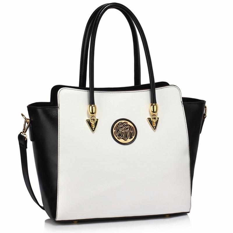 d9e18500de Dámska kabelka čierna biela