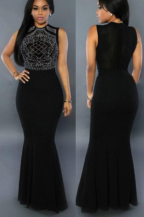 57256bd3cd9 Dámske spoločenské šaty čierne