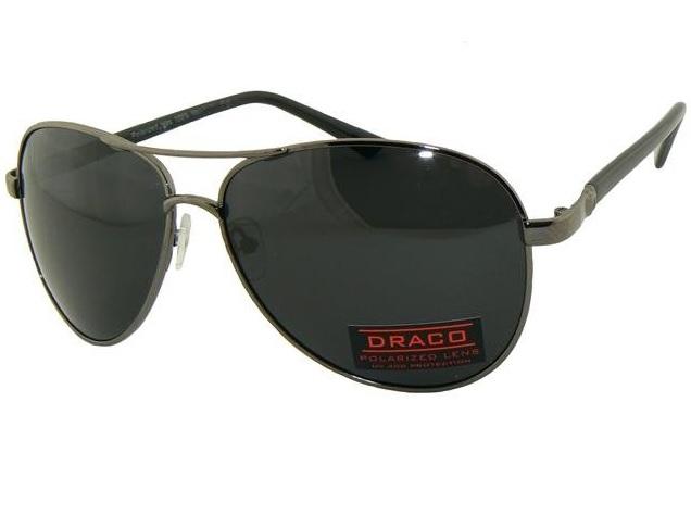 0653d8054 Polarizačné slnečné okuliare AVIATOR - pilotky čierny rám tmavé sklá