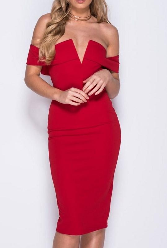Dámske červené šaty Ella 40c080d7cf