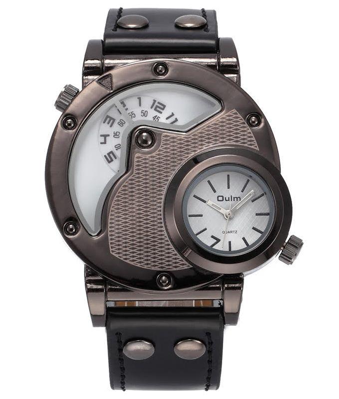 Pánske hodinky Oulm Circle New - čierne biele 99f6394b02