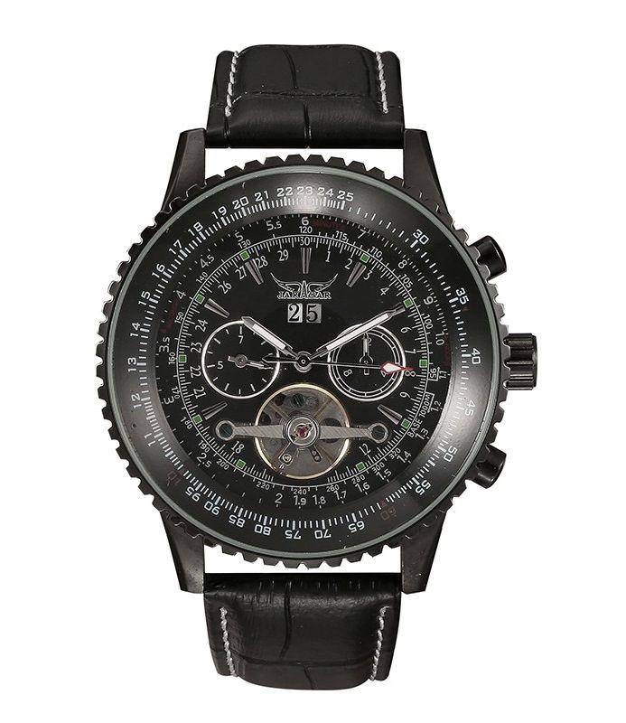 eae8d051ddb Pánske mechanické hodinky JARAGAR - čierne