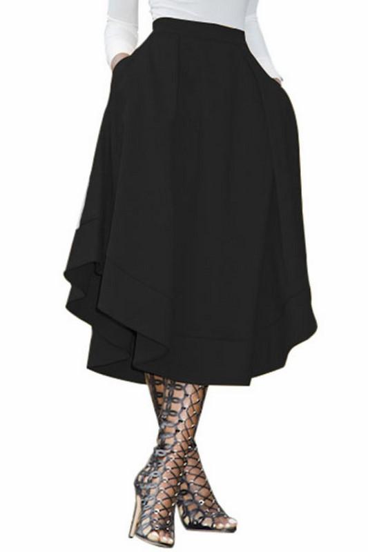 cb85277f74be Dámska midi sukňa Daniela - čierna