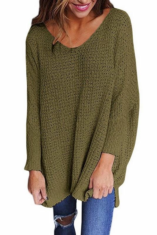 f6a83b920251 Dámsky sveter Miranda - zelený