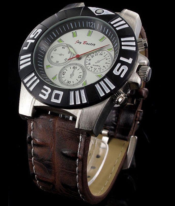 92d2548fda7 Pánske hodinky Jay Baxter Round Silver White-Brown