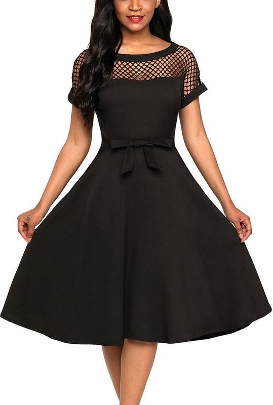 Štýlové dámske šaty Evelyn - čierne e75eaa212f
