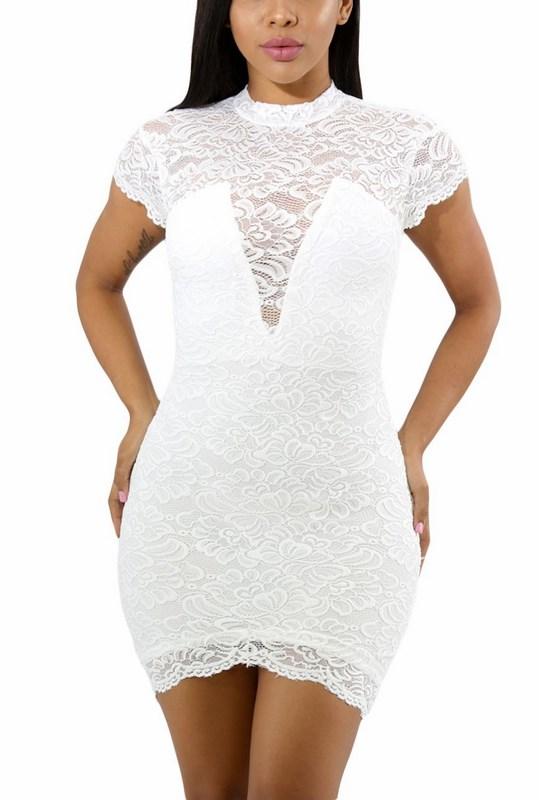 a31e734cf962 Bodycon dámske šaty Ellie - biele