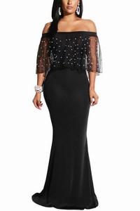 Čierne večerné dámske šaty s volánikom empty 3ca6c345497