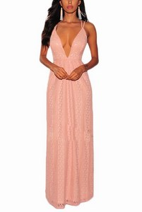 Večerné dámske šaty so vzorom - ružové empty c36d043ee7b