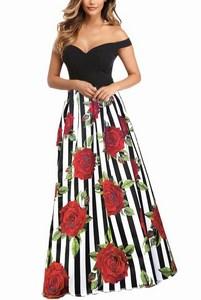 Šaty s kvetovanou sukňou - červené empty 409c6a56533