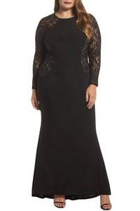 374d5a6110ee Dlhé plus size šaty - čierne empty