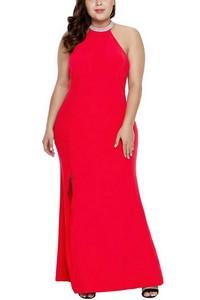 5e11c8fc87a7 Spoločenské plus size šaty - červené empty