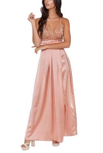 34aa5919bb11 Trendy spoločenské šaty - apricot empty