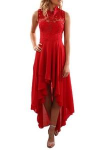 b56f8eb909c9 Čipkované dámske šaty - červené empty