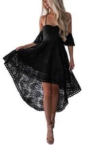 ecdb64ce223c Nádherné čierne čipkované šaty empty