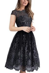 d8955948d96a Pôvabné čipkované šaty - čierne empty