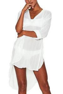 f3929c07a21c Predĺžené biele plážové šaty empty