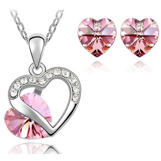 Austrian Crystal SW set Clear Pink
