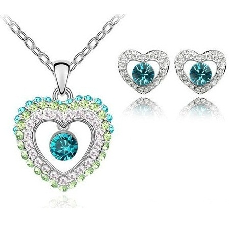 Austrian Crystal SW set Light Blue/Green