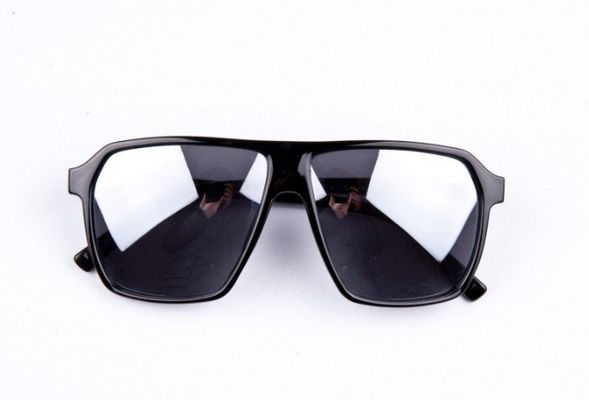 Slnečné okuliare URBAN - čierne Dot zrkadlové sklá empty 4381b37f888