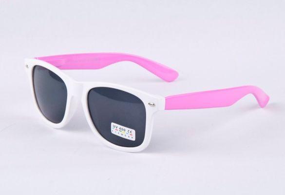 Slnečné okuliare WAYFARER - biely rám + ružové boky 3b2eb80d9ac