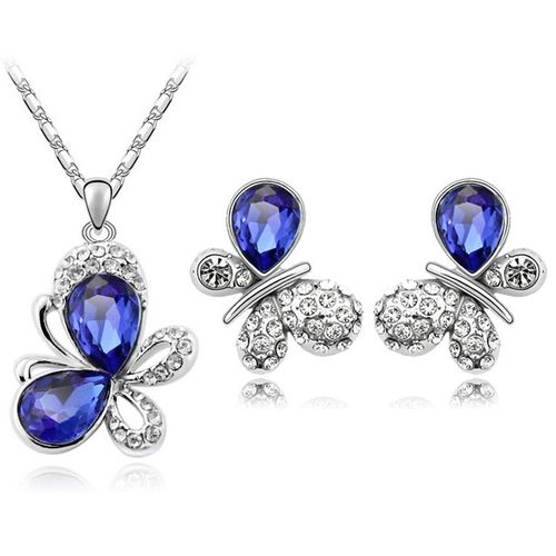 Austrian Crystal SW set Butterfly Dark Blue
