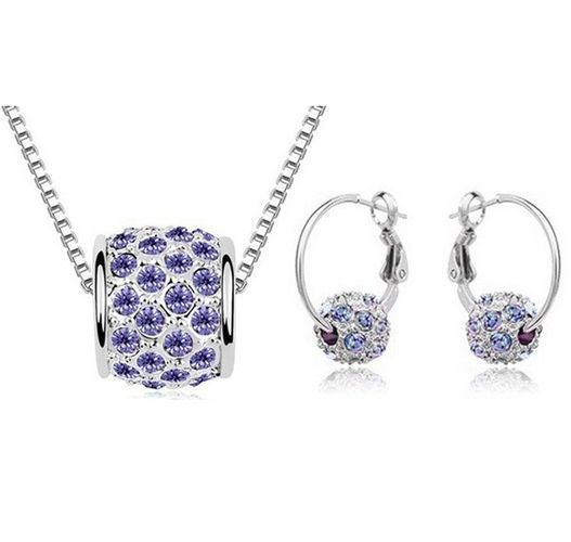 Austrian Crystal SW set Gulička - dark purple