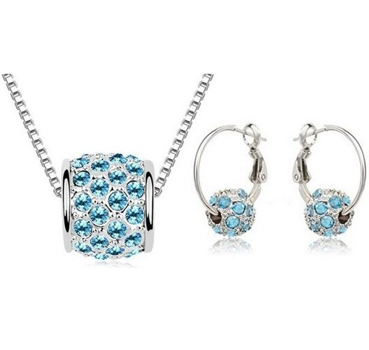 Austrian Crystal SW set Gulička - light blue