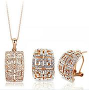 Austrian Crystal SW set Aztec -  Gold